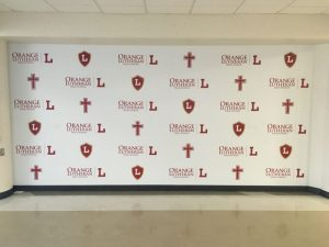 Church Signs custom wall vinyl step repeat mural 300x225