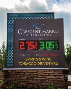 Gas Station Signs monument digital message outdoor custom 240x300